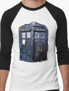 space tardis Men's Baseball ¾ T-Shirt