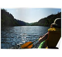 Canoe Kayak in Katherine Gorge - Nitmiluk National Park Poster