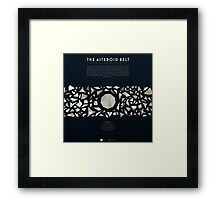 Ceres and the asteroid belt Framed Print