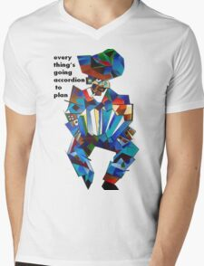 Everything's Going Accordion To Plan Mens V-Neck T-Shirt