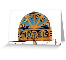 Route 66 - Sunset Motel Greeting Card