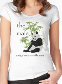The Male Eats, Shoots and Leaves Women's Fitted Scoop T-Shirt