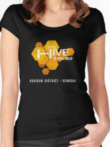 The Hive (worn look) Women's Fitted Scoop T-Shirt