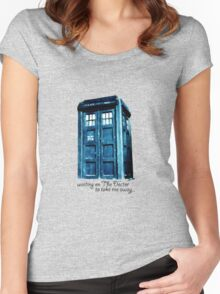 Waiting forthe Doctor... Women's Fitted Scoop T-Shirt