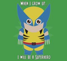 When I grow up, I will be a superhero One Piece - Short Sleeve