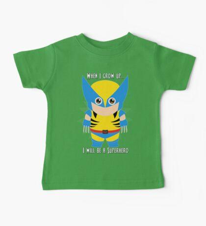 When I grow up, I will be a superhero Baby Tee