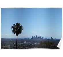 LA Skyline with Palm Tree Poster