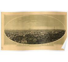 Panoramic Maps Los Angeles Cal SF Cook del lith Britton & Rey SF 003 Poster