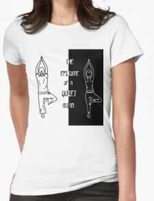 Yoga - The Epitome Of A Quiet Mind Womens Fitted T-Shirt