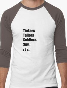 Tinker & Tailor & Soldier & Spy Men's Baseball ¾ T-Shirt