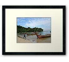 Long Boats Framed Print