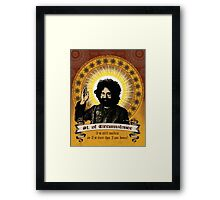 Jerry Garcia - Saint of Circumstance Framed Print