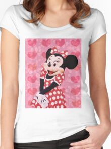 Mouse in LOVE Women's Fitted Scoop T-Shirt