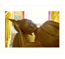 Buddha reclining Art Print