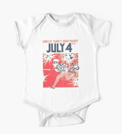4th of July - Uncle Sam One Piece - Short Sleeve