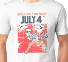 4th of July - Uncle Sam Unisex T-Shirt