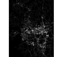 Seoul map South Korea Photographic Print