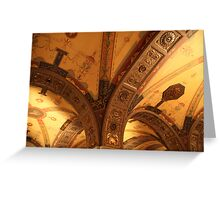Biltmore Hotel Ceiling, Los Angeles Greeting Card