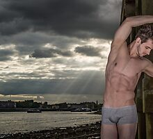 Dramatic Sky with Hot Model on the Thames in London with Andrew by GrahamMartin