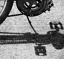 Bicycle Shadow detail by Laurie Minor