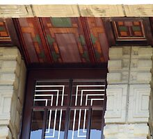 Painted Eaves, Gridded Windows, Frank Lloyd Wright by Jane McDougall