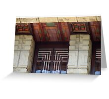 Painted Eaves, Gridded Windows, Frank Lloyd Wright Greeting Card