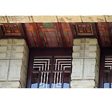 Painted Eaves, Gridded Windows, Frank Lloyd Wright Photographic Print