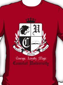 Camelot University (Big, B&W) T-Shirt