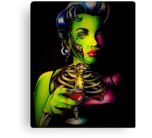 Zombie Horror Marilyn Blood Martini Canvas Print