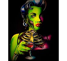 Zombie Horror Marilyn Blood Martini Photographic Print