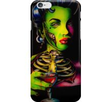 Zombie Horror Marilyn Blood Martini iPhone Case/Skin