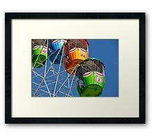 Ferris Wheel detail Framed Print