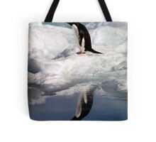 Adelie Penguin in a Reflective Mood Tote Bag
