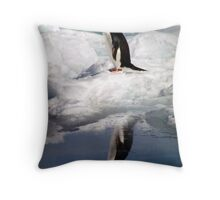 Adelie Penguin in a Reflective Mood Throw Pillow