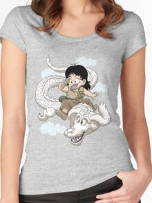 DRAGON LUCK Women's Fitted Scoop T-Shirt