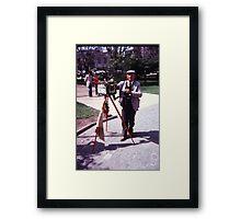 Photographer In Plaza Framed Print