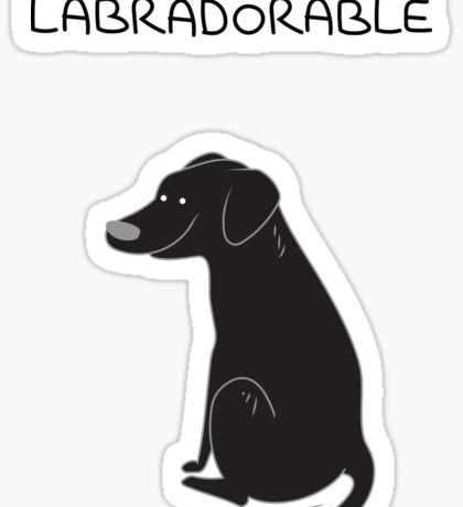 Black Lab Being Labradorable  Sticker