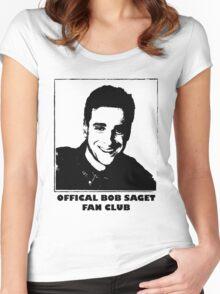 Official Bob Saget Fan Club Shirt Women's Fitted Scoop T-Shirt