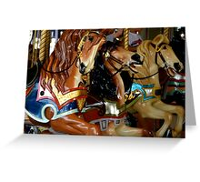 Carousel horses Greeting Card
