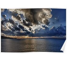 Clouds Over The Ocean Poster