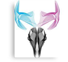 Deer skull Vector art digital deer 3d effect Sticker Canvas Print