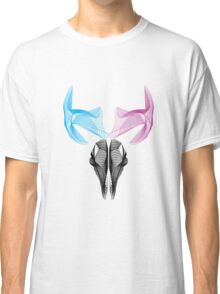 Deer skull Vector art digital deer 3d effect Sticker Classic T-Shirt