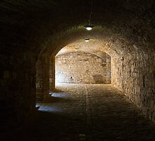 Tunnel inside Hohenzollern Castle by Yair Karelic