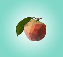 Polygon Peach by scarriebarrie