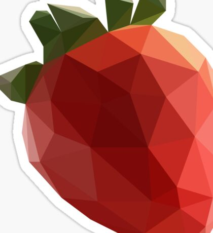 Polygon Strawberry Sticker