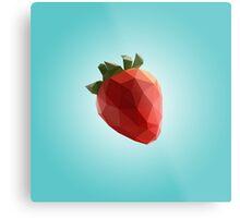 Polygon Strawberry Metal Print