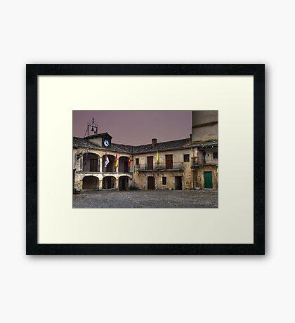 Plaza de Pedraza (colour) Framed Print