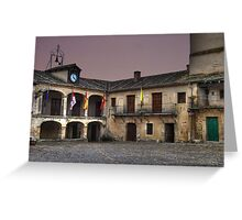 Plaza de Pedraza (colour) Greeting Card