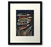 Fishing boats on Lake Titicaca, Peru Framed Print