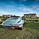 E-Type Jaguar at the Castle by Steve Purnell